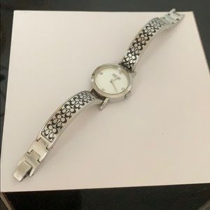 Black & Silver Signature Coach Watch